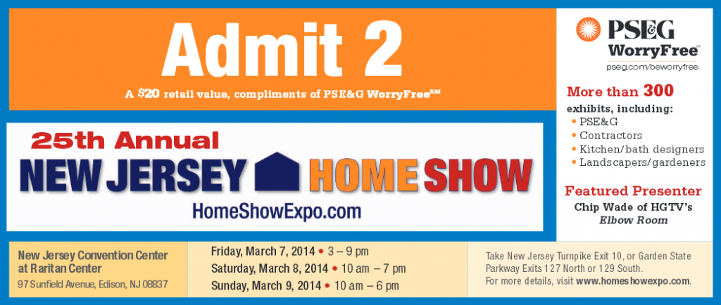 2014 Free NJ Home Show Tickets
