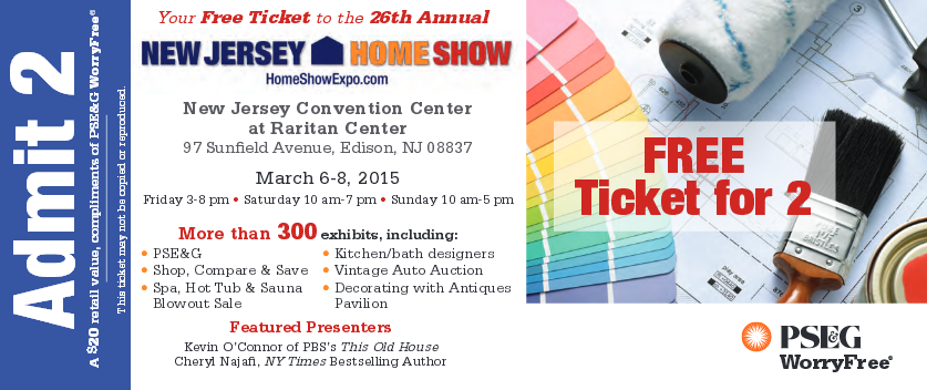2015 NJ Home Show Free Tickets